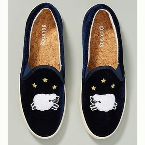 Anthro Soludos Counting Sheep Sneakers